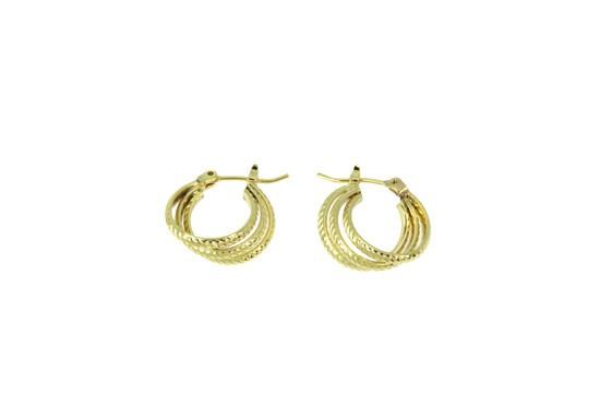 Boucles d'oreilles Mélina mini anneaux triple