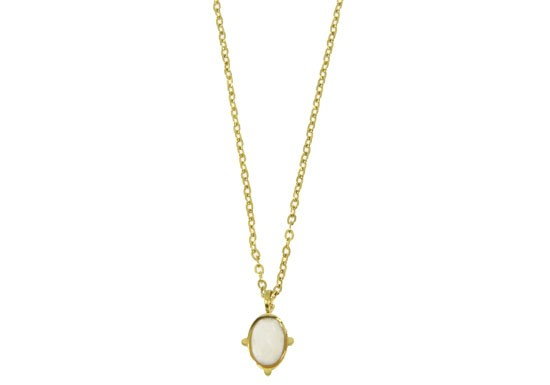 Collier Marie - agate blanche