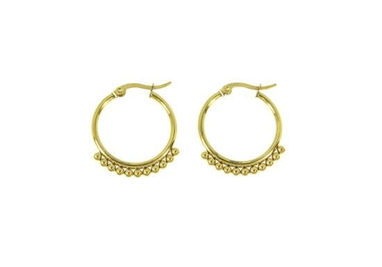 Boucles d'oreilles Ariane - acier