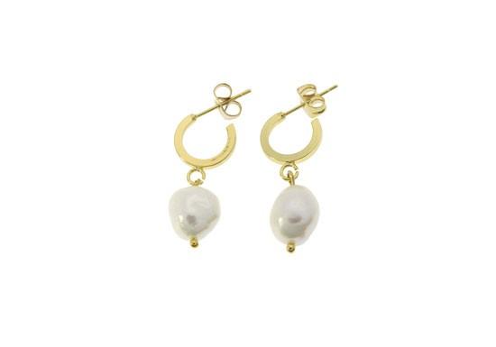 Boucles d'oreilles Daphné perle