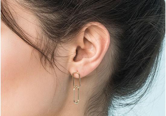Boucles d'oreilles Alpha