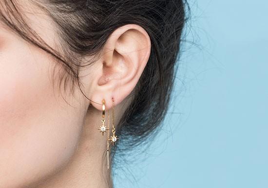 Boucles d'oreilles Mythos chaîne