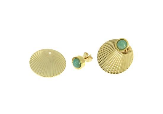 Boucles d'oreilles Madeleine - turquoise