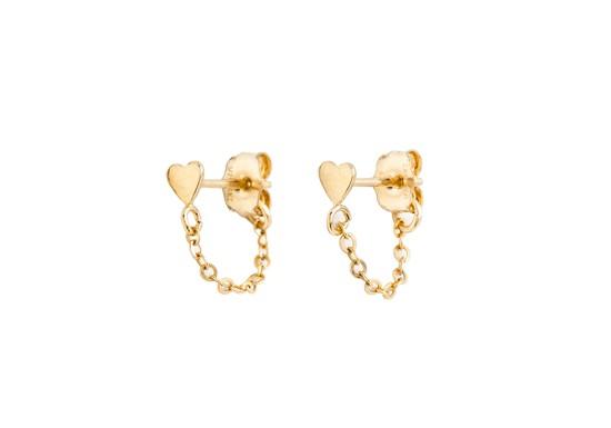 Boucles d'oreilles chaînette Sol - Coeur