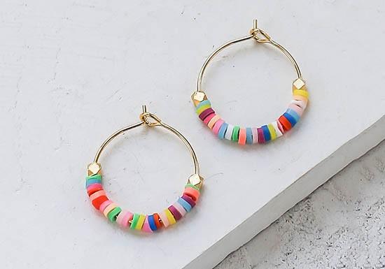 Boucles d'oreilles Rainbow hoop