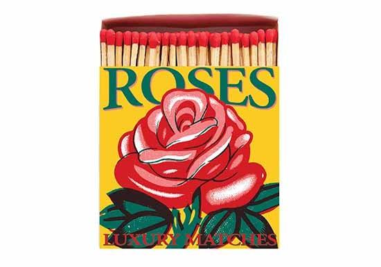 Grande boite d'allumettes - Red Rose
