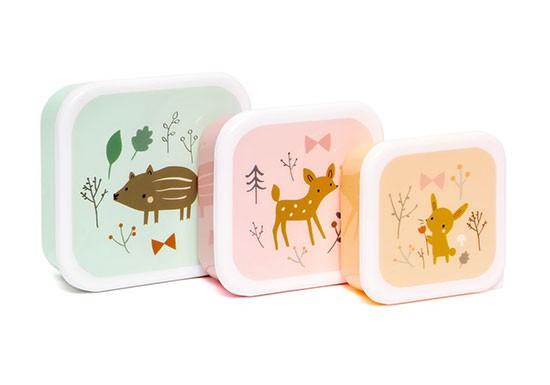 Set de 3 boîtes Forest friends