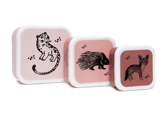 Set de 3 boîtes Black animals