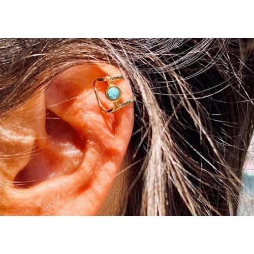 Bague d'oreille turquoise