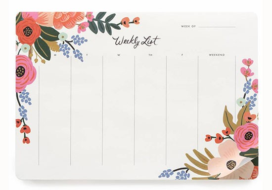 Semainier Lively Floral