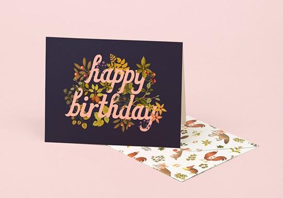 Carte Botanic Birthday