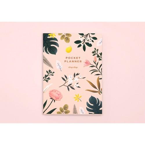 Agenda de poche Botanical pink