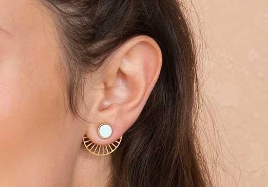 Boucles d'oreilles Rim jacket (coloris au choix)