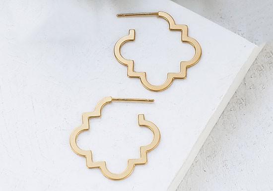 Boucles d'oreilles Riad Hoop