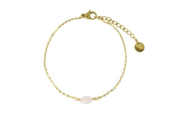 Bracelet chaîne Colette quartz rose
