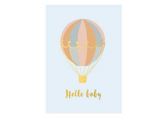 Carte Hello Baby - Ballons