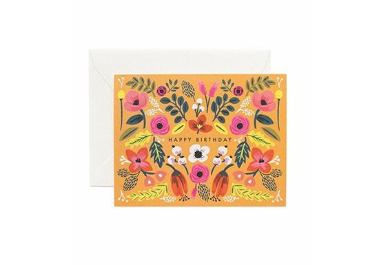 Carte postale Folk Birthday