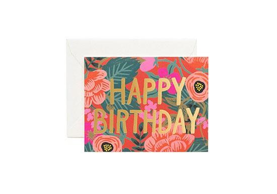 Carte postale Poppy Birthday
