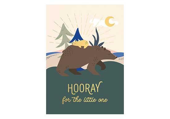 Carte Hooray for the little one - Bears