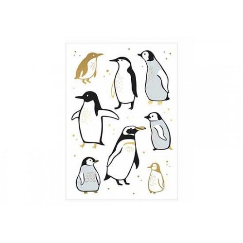 Carte Pingouins