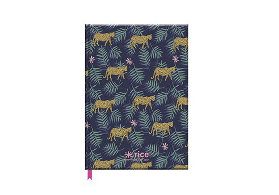 Cahier A5 Leopard and leaves