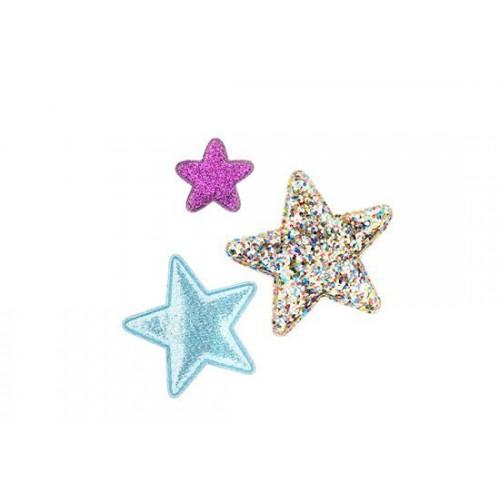 Barrettes étoiles supernova (lot de 3)