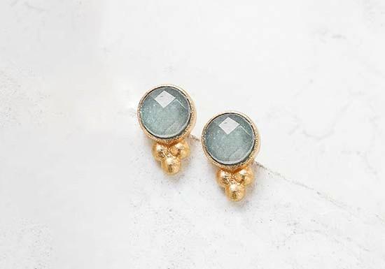 Boucles d'oreilles Anis Post (pierre au choix)
