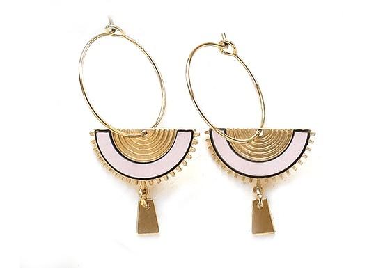 Boucles d'oreilles Swahili hoop (coloris au choix)