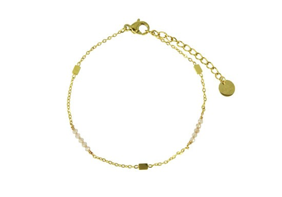 Bracelet Emilie - Quartz rose