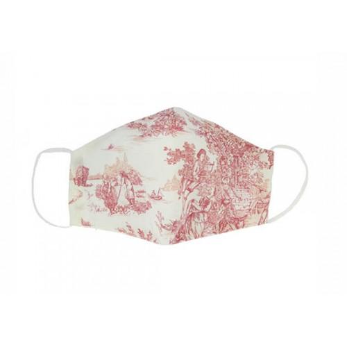 Masque enfant - Toile de Jouy rose