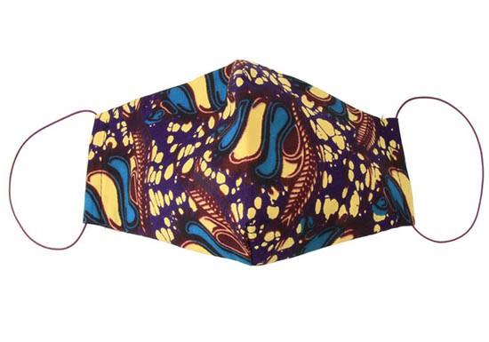 Masque en tissu adulte - Wax violet