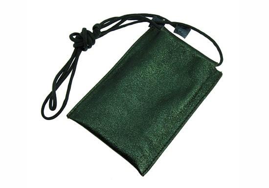 Pochette Smartphone - shine vert
