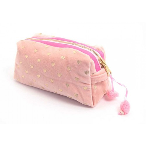 Trousse Gold heart - rose