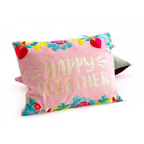 Coussin Happy Together - rose