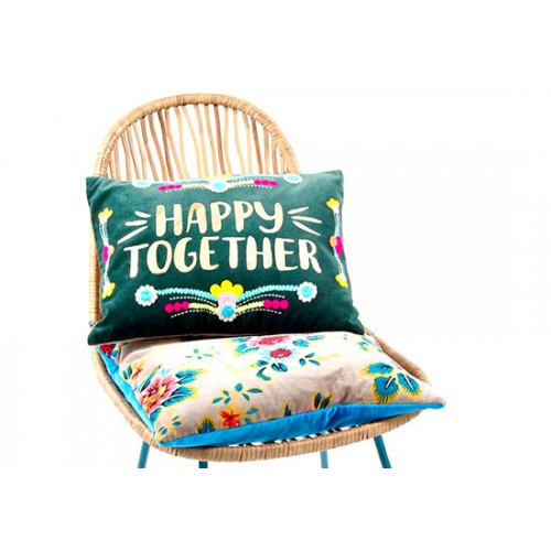 Coussin Happy Together - vert