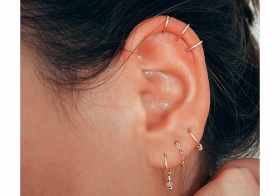 Boucles d'oreilles chaînette Cosmic
