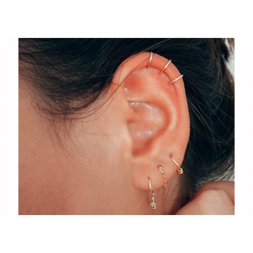 Boucles d'oreilles Essentiel chaînette