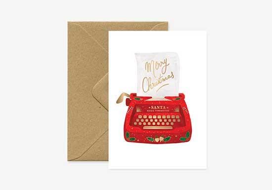 Carte postale Xmas Typewritter