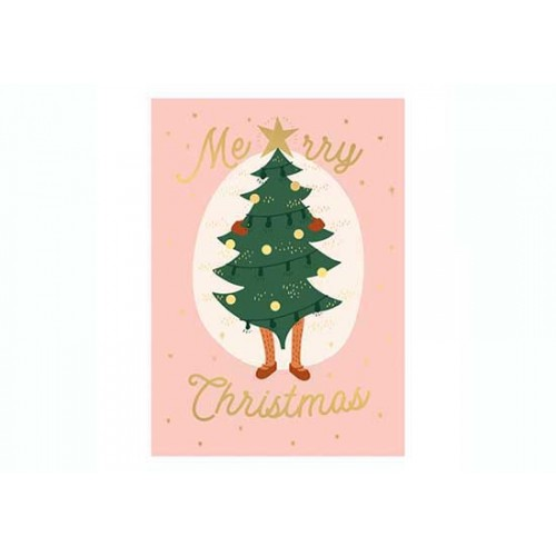 Carte Merry Christmas tree