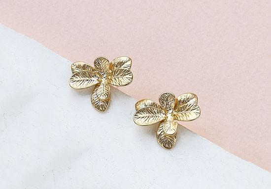 Boucles d'oreilles Begonia Post