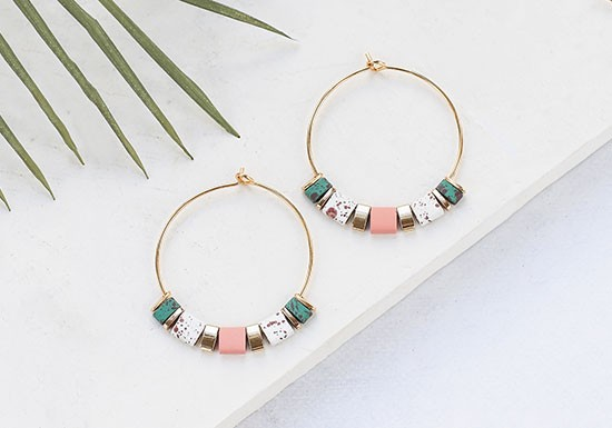 Boucles d'oreilles Bali Large (coloris au choix)