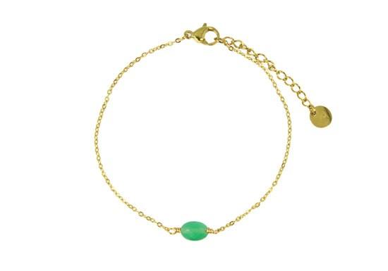 Bracelet chaîne Colette vert clair