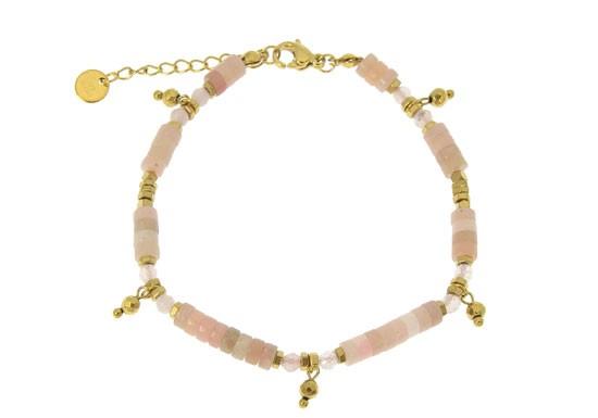 Bracelet Monica - Quartz rose