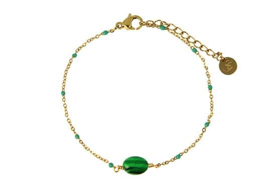 Bracelet Jeanne - malachite
