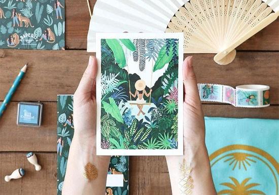 Carte postale Swing