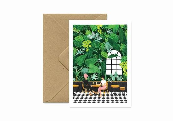 Carte postale Café