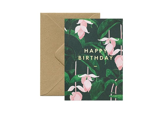 Carte postale Happy Birthday Medinilla