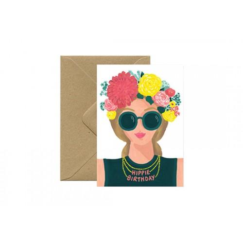 Carte postale Hippie Birthday