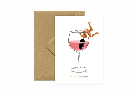 Carte postale Birthday Just one drink