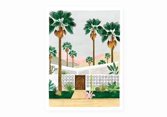 Petite affiche Palmspring